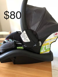 Baby's black and gray car seat carrier $70 Londres, N6J 1M2
