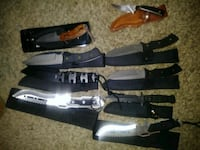 three black and brown combat knives Graysville, 35073