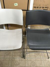 two black and gray folding chairs New Carrollton, 20784