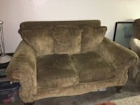 brown fabric 2-seat sofa Visalia, 93292