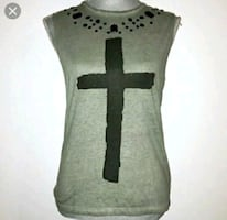 jeweled cross top