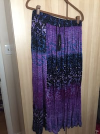 Multi coloured string tie skirt purple,free size brand new .tag attached  Vancouver, V5W 3E5