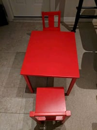 Kids table and 2 chairs - Red Port Moody, V3H 2E4