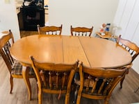 Wooden Dining set- table with 6 chairs