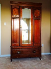 brown wooden cabinet with mirror Barrie, L4N 8W1