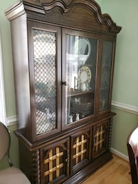 Wooden China cabinet very nice condition