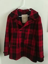 black and red plaid double-breasted coat Sacramento, 95842