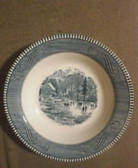 Currier and Ives 8.5 inch Soup Bowl  Decatur, 62526