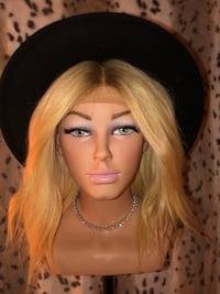 Lace front wig blonde with roots new 100% human hair