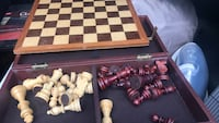 Wood chess board with case Brookfield, 06804