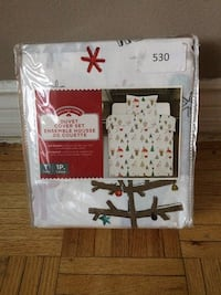 Brand new Holiday time twin size duvet cover set