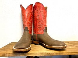 Water buffalo square toe boots