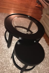 Black Stackable Coffee Table Chicago