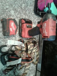 red and black Milwaukee cordless power drill Stockton, 95210