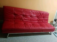 red leather tufted sofa chair Toronto, M9R 1T7