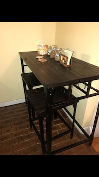 rectangular brown wooden table with four chairs dining set Ronkonkoma, 11779
