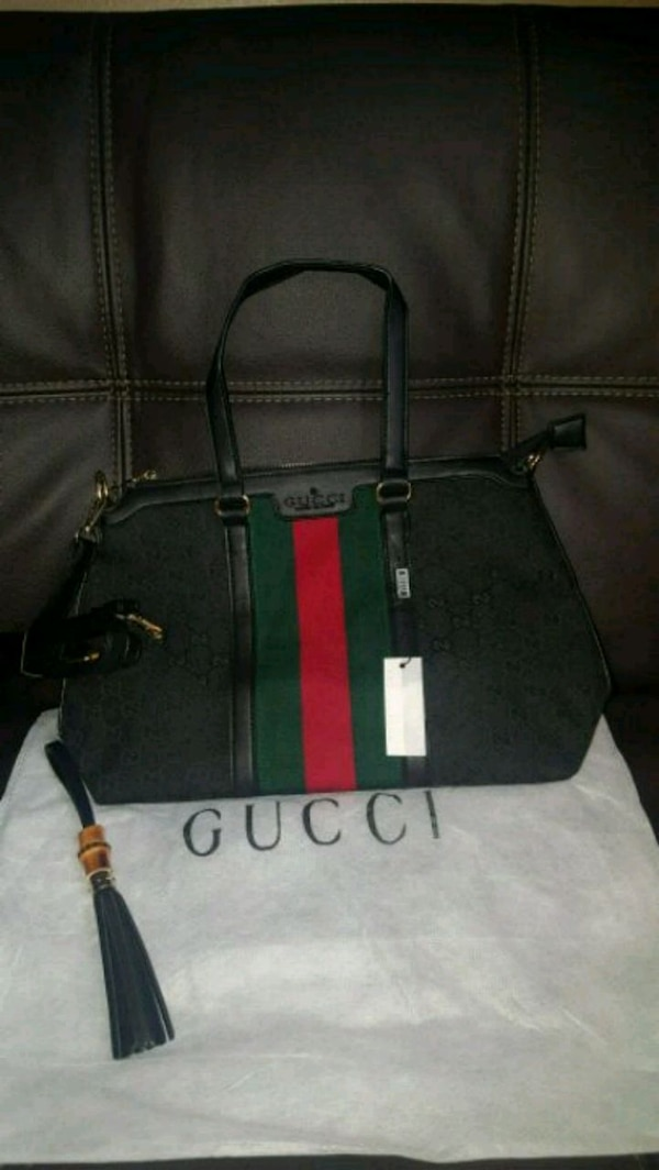 Used black and red leather handbag for sale in North Little Rock - letgo a979a5598501a