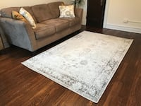 white and gray floral area rug Washington, 20009