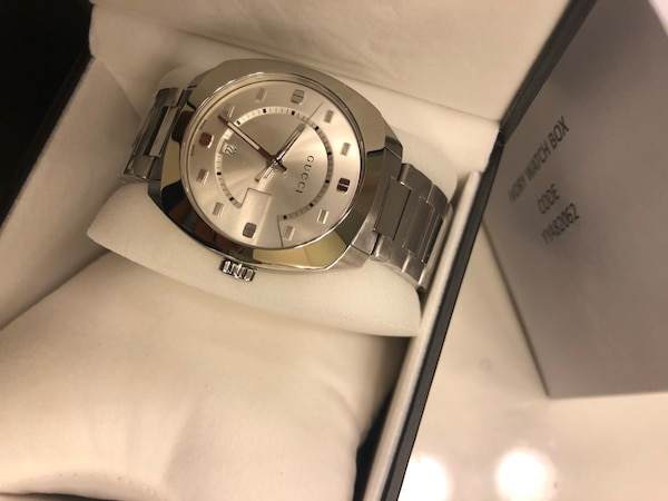 Gucci silver watch with link bracelet