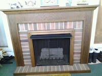 brown wooden framed electric fireplace Carol Stream, 60188