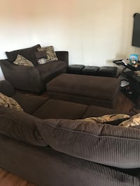 Couch set with ottomans