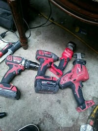 two red and black cordless power tools San Jose, 95112