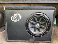 black Kicker subwoofer with enclosure Germantown, 20874