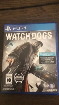 Watch dogs ps4 game case Guelph, N1E 0L7