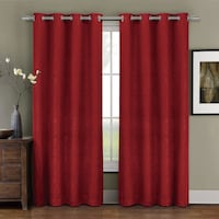 """red curtains 96"""" length null"""