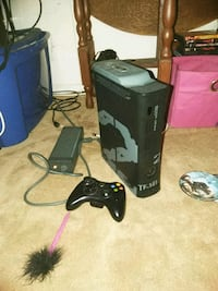 black Xbox 360 console with controllers Virginia Beach, 23453
