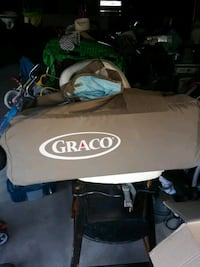 Graco Pack n Play sky blue brown like new South Salt Lake, 84115