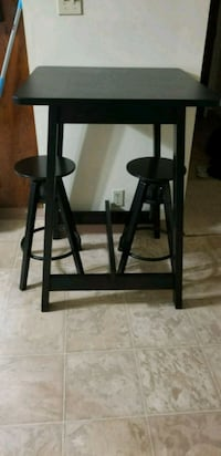 two black wooden bar stools Downey, 90241