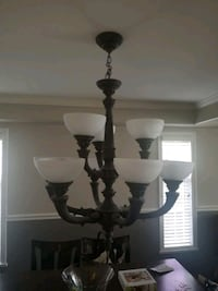 2 chandeliers.  6 light chandelier and 9 light cha Richmond, V6V 2L8