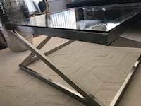 rectangular glass-top coffee table 29 km