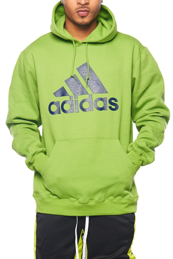 green and black Adidas pullover hoodie