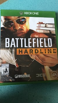 Battlefield Hardline Xbox One game case Ottawa, K2J 2P3