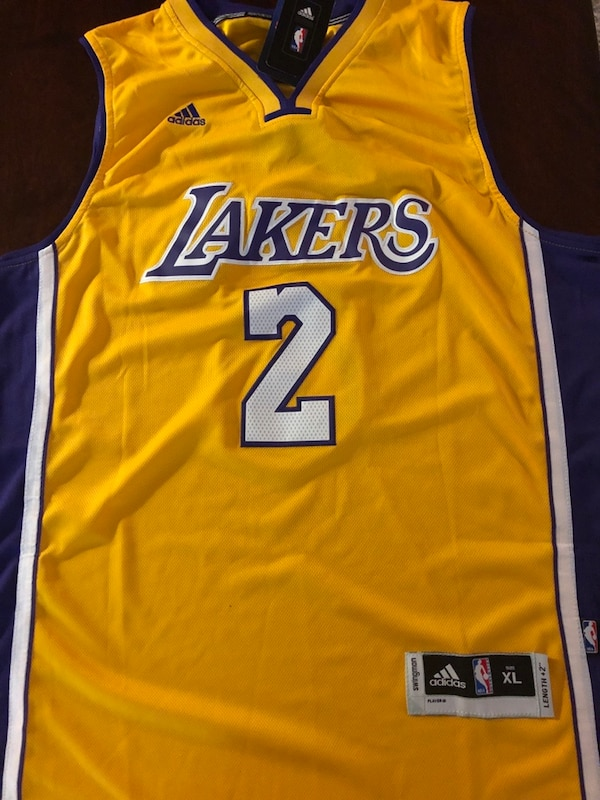 91ce1451600 Used Lonzo Ball Los Angeles Lakers Jersey | New Men's XL for sale in ...