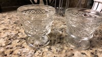 clear cut glass punch bowl set Bakersfield, 93312