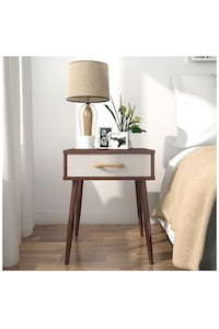 Brand-new!!! Lifewit Nightstand with 1 Fabric Beige Drawer End Table Side Table, Sturdy and Easy Assembly Hialeah, 33015