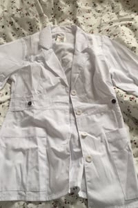 White lab coat, with tag attached