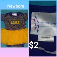 LSU NEWBORN TUTU BODYSUIT Bossier City, 71112