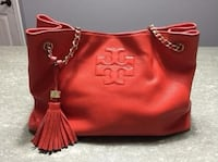 Authentic Tory Burch Thea Chain Slouchy Shoulder Tote With Tassels