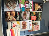 Various recipe books cooking and baking Mississauga, L5M 0H9