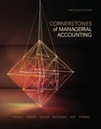 Cornerstone Managerial Accounting 3ed PDF HD Toronto, M5B