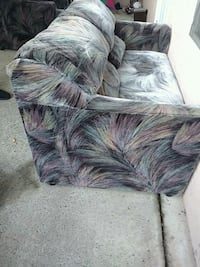 black and gray fur sofa chair Surrey, V3S 8Z3