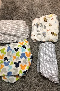 4 fitted crib sheets West Boylston, 01583