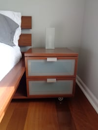 Queen bed and nightstand Frederick