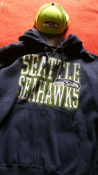 Seattle Seahawks hoodie and hat new never worn and