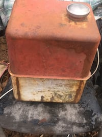 Vintage Gas Tank for Small Engine. Needs Cleaning and New Hardware.