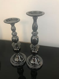 two stainless steel candle holders Henderson, 89052